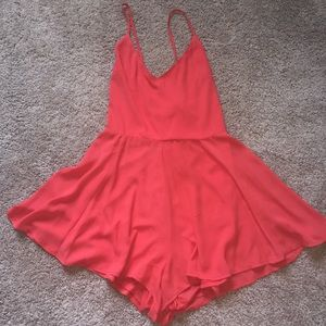 EXPRESS LACE UP ROMPER